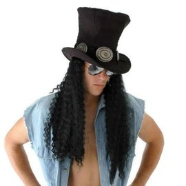 Elope Guitar Superstar Plush Hat with Hair