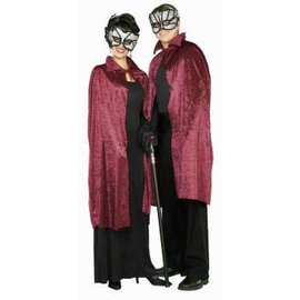 "RG Costumes And Accessories 44"" inch Burgundy Velvet Hooded Cape"