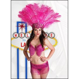 Western Fashion Inc Samba Bra Sequin/Beaded/Fringe, Red- M/L