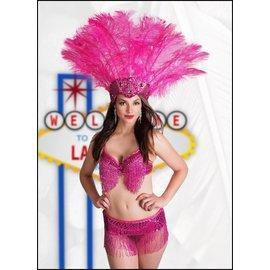 Western Fashion Inc Samba Bra Sequin/Beaded/Fringe, Red- M/L