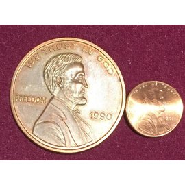 Sasco Magic IKE Size Copper Cent