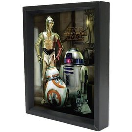 Pyramid America Shadowbox - Star Wars – TFA – Droids