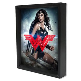 Pyramid America Shadowbox - Wonderwoman Batman v Superman – DOJ – WW Logo