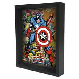 Pyramid America Shadowbox - Captain America – Panels