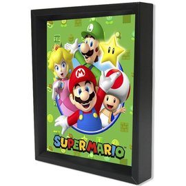 Pyramid America Shadowbox - Super Mario - Cast