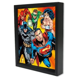 Pyramid America Shadowbox - DC - Justice League - Heroes