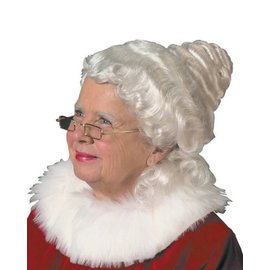 Mrs. Claus Santa, Gibson Girl White Wig (/203)
