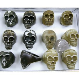 China Ring, Skull - Bone (assorted)