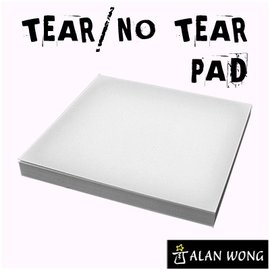 Alan Wong No Tear Pad (Small, 3.5 X 3.5, Tear/No Tear Alternating) by Alan Wong