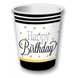 Forum Novelties Elegant Happy Birthday Cups - 9 oz