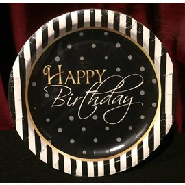 Forum Novelties Elegant Happy Birthday Plate - 7""