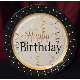 Forum Novelties Elegant Happy Birthday Plate - 9""