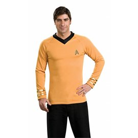 Rubies Costume Company Star Trek Classic Gold Shirt - Captain Kirk, XL