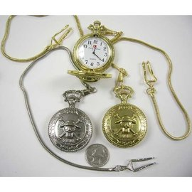 China Pocket Watch Pirate  - Gold