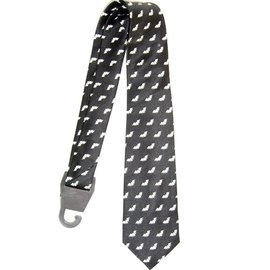 american passion Bats on a Black Necktie