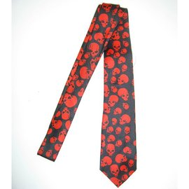 american passion Necktie Red Skulls