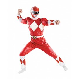 Disguise Disney's Mighty Morphin Power Rangers - Adult  Classic Muscle Red Ranger