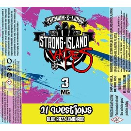 strong island vapes Vapor Liq 21Q 60ml 3mg by Strong Island
