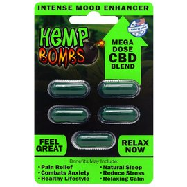 Hemp Bombs CBD Capsules 5 Count by Hemp Bombs