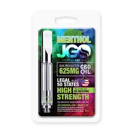 JGO CBD Oil Cartridge Menthol 625mg CBD 1ml JGO