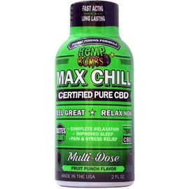 Hemp Bombs CBD Max Chill Shot Fruit Punch 75mg by Hemp Bombs