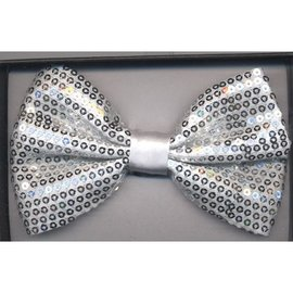 China Bow Tie Sequin, Silver - Boxed
