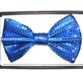 China Bow Tie Sequin, Blue - Boxed