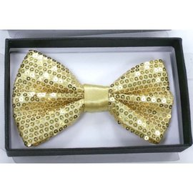 China Bow Tie Sequin, Gold - Boxed