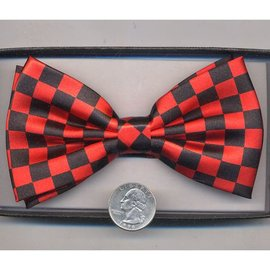 China Bow Tie Checker, Red/Black - Boxed