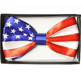 China Bow Tie, American Flag - Boxed