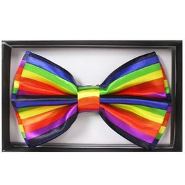 China Bow Tie, Rainbow Colors - Boxed