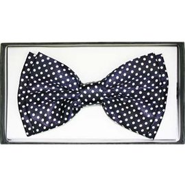 China Bow Tie, Black w/White Dots - Boxed