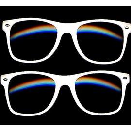 China Wayfarer Eyeglasses White Frame - Soft Touch Coating