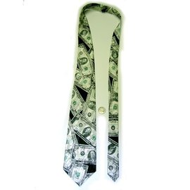 J-Land Necktie Money U.S. Bills