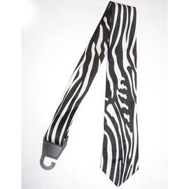 american passion Necktie Zebra, Vertical Print Black/White