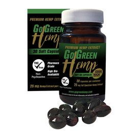 Go Green Hemp CBD Soft Gel Capsules 25mg 750mg by Go Green Hemp