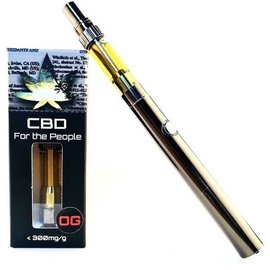 CBD For The People CBD Cartridge, Wax 300mg Stawberry Banana, Sativa by For The People