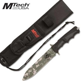 Mtech USA Knife -  Hunting Camping Tactical Survival Fixed Blade, Green Digital Camo by MTech