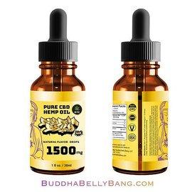 Buddha Belly Bang CBD Pure CBD Hemp Oil Tincture 1500mg 30ml by Buddha Belly Bang