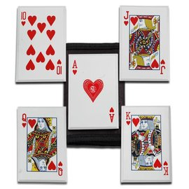 China Knife - Throwing Cards Hearts Royal Flush, 5 Pc. Set