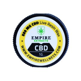 Empire Wellness CBD Wax Live Resin 225mg .5G by Empire Extracts
