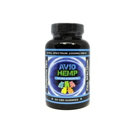 Avid Hemp CBD CBD Gummies Extra Strength 60ct 1000mg by Avid Hemp