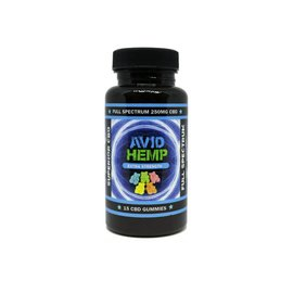 Avid Hemp CBD CBD Gummies Extra Strength 15ct 250mg by Avid Hemp
