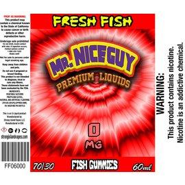 strong island vapes Vapor Liq Fresh Fish Gummies 60ml 0mg by Mr. Nice Guy