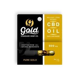 Gold Standard CBD CBD Vape Cartridge 500mg Pure Gold by Gold Standard CBD