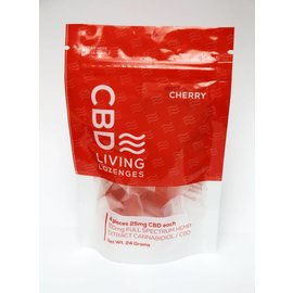 Water For Living CBD Cherry Lozenges 100mg by Water for Living