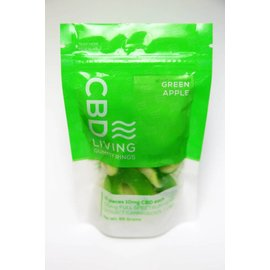 Water For Living CBD Green Apple Gummy Rings 100mg by Water for Living