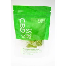 Water For Living CBD Green Apple Lozenges 100mg by Water for Living