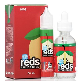 7 Daze Manufacturing Iced Reds Apple 0mg 60ml eLiquid by 7 Daze
