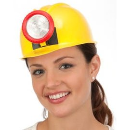 Jacobson Hat Company Hat Miner Hard Hat with Light